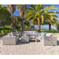VRTNA GARNITURA - svijetlo siva, Design, staklo/metal (228/58/89cm) - Ambia Garden