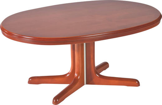 COUCHTISCH furniert oval Kirschbaumfarben - Kirschbaumfarben, Design, Holz (105/75/56-75cm) - Venda