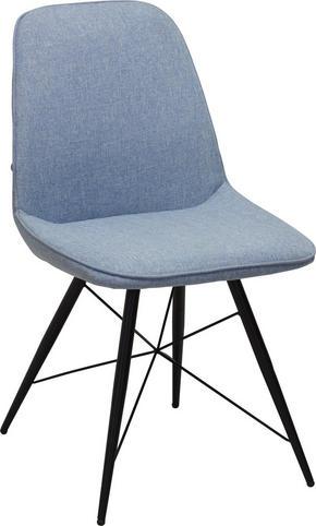 STOL - blå/svart, Design, metall/textil (60/86/58cm) - Carryhome