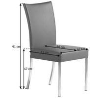 STUHL in Leder, Metall Braun - Braun, Design, Leder/Metall (47/91/63cm) - Bert Plantagie