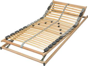 LETVENA PODLAGA breza,furnirano - naravna/siva, Basics, kovina/umetna masa (200/90/6,5cm) - Sleeptex
