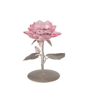 LJUSSTAKE - silver/rosa, Lifestyle, metall/glas (13/18cm) - Ambia Home
