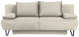 SCHLAFSOFA in Textil Naturfarben  - Schwarz/Naturfarben, MODERN, Textil/Metall (202/90/91cm) - Xora