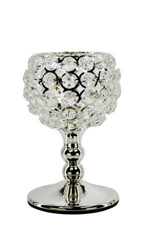 LJUSSTAKE - silver, Basics, metall/glas (10/18cm) - Ambia Home