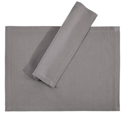 TISCHSET 33/45 cm Textil  - Hellgrau, Basics, Textil (33/45cm) - Novel