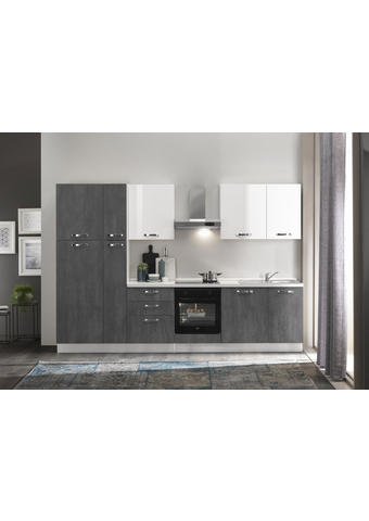 KUHINJSKI BLOK - bijela/tamno siva, drvni materijal (315/216/60cm) - Italstyle