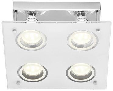 LED PLAFONJERA - Boje hroma/Bela, Konvencionalno, Metal/Staklo (23/8,5cm) - Boxxx