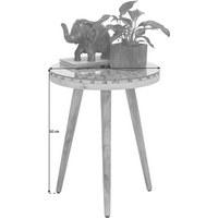 BEISTELLTISCH in Naturfarben - Naturfarben, Trend, Glas/Holz (40/50cm) - Ambia Home