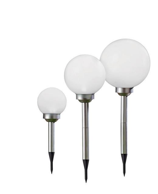 SET 3/1 SOLARNA SVETILKA - bela/srebrna, Design, umetna masa (15cm) - Boxxx