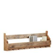 FLASCHENREGAL - Naturfarben, LIFESTYLE, Holz (120/38/17cm) - CARRYHOME