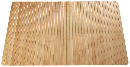 BADEMATTE  Hellbraun  50/80 cm - Hellbraun, Basics, Holz/Textil (50/80cm) - Kleine Wolke
