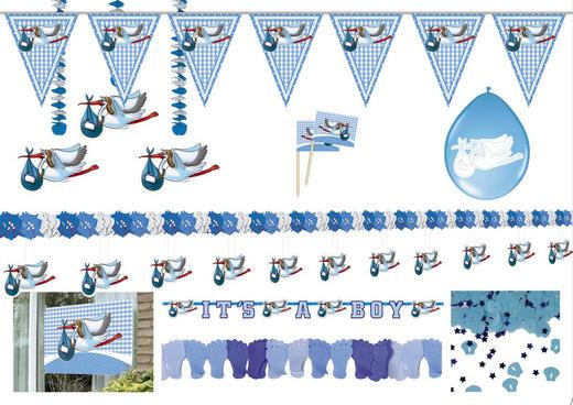 "Partyset ""Junge"" - Blau, Papier/Kunststoff"