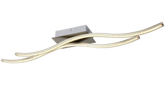 Led Deckenleuchte Nala L: 70 cm Geschwungen - Nickelfarben, MODERN, Metall (74,5cm) - Luca Bessoni