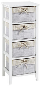 KOMODA - bijela/krem, Lifestyle, papir/drvni materijal (37/87/30cm) - CARRYHOME