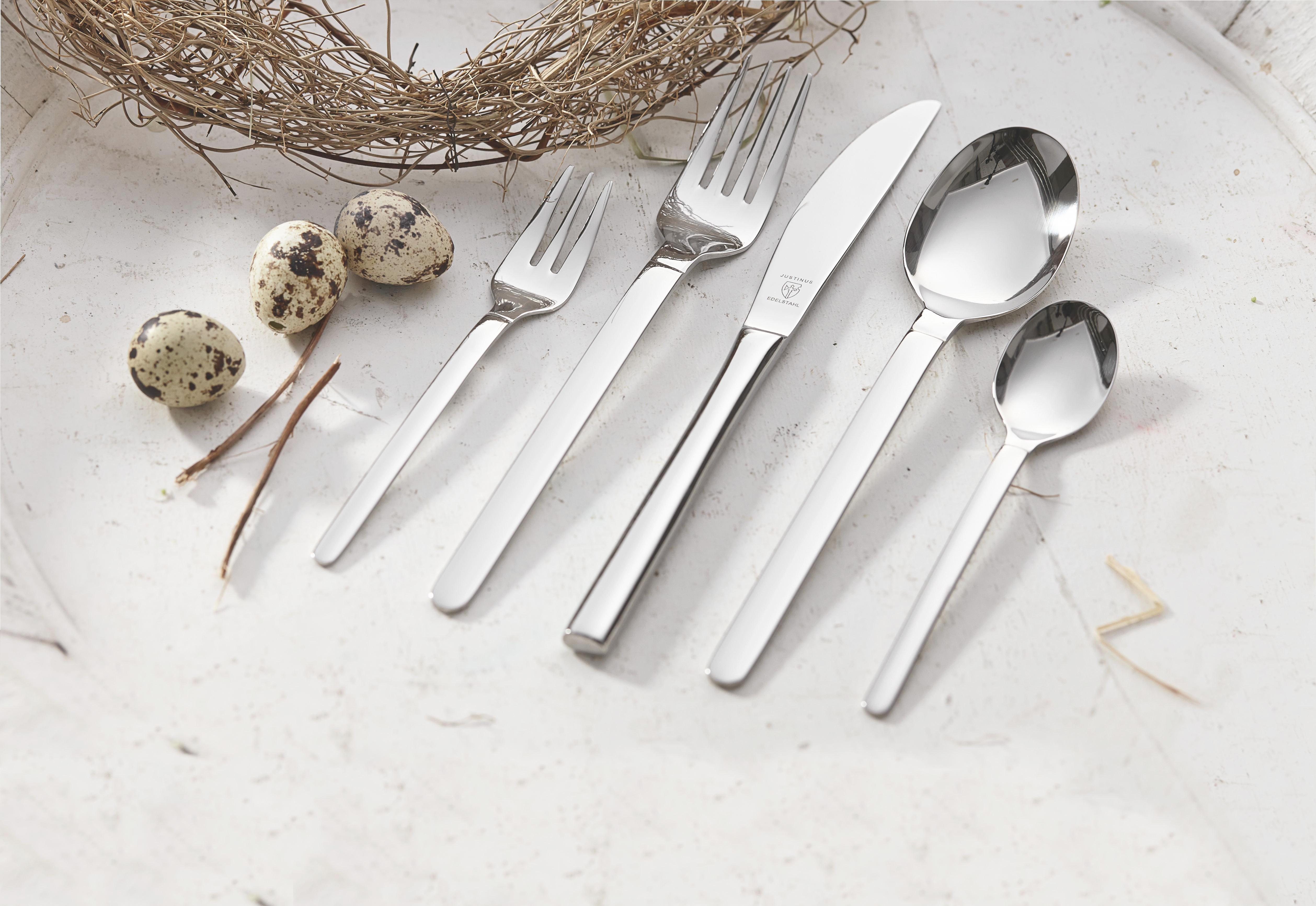 JEDILNI PRIBOR - srebrna, Konvencionalno, kovina - JUSTINUS
