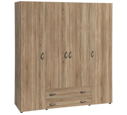 ORMAR S KLASIČNIM VRATIMA - boje hrasta/boje aluminija, Konvencionalno, drvni materijal/plastika (161/176/53cm) - Boxxx