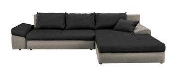 WOHNLANDSCHAFT in Textil Schwarz, Beige  - Beige/Schwarz, Design, Kunststoff/Textil (313/215cm) - Carryhome