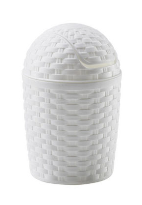 PAPPERSKORG MED VIPPLOCK - vit, Basics, plast (1,2l) - Plast 1