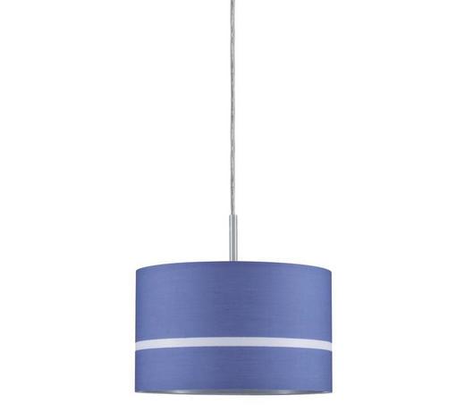 SCHIENENSYSTEM-LEUCHTENSCHIRM   - Blau, Design, Textil (25,5cm)