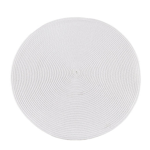 PLATZDECKCHEN Kunststoff Weiß 38 cm - Weiß, Basics, Kunststoff (38cm) - Ambia Home