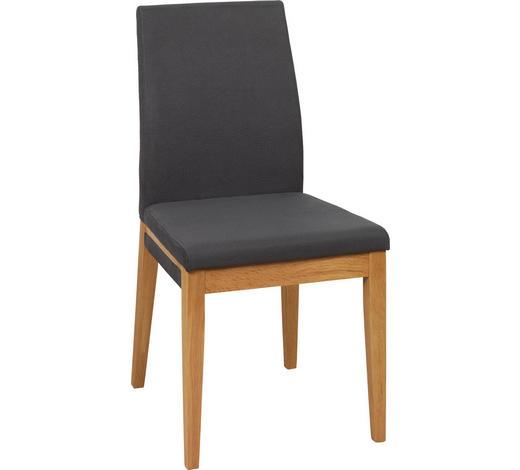 STUHL in Holz, Textil Anthrazit, Eichefarben  - Eichefarben/Anthrazit, Natur, Holz/Textil (48/94/58cm) - Voleo