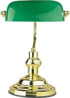 SVJETILJKA ZA PISAĆI STOL - zelena, Lifestyle, staklo/metal (25/36cm)