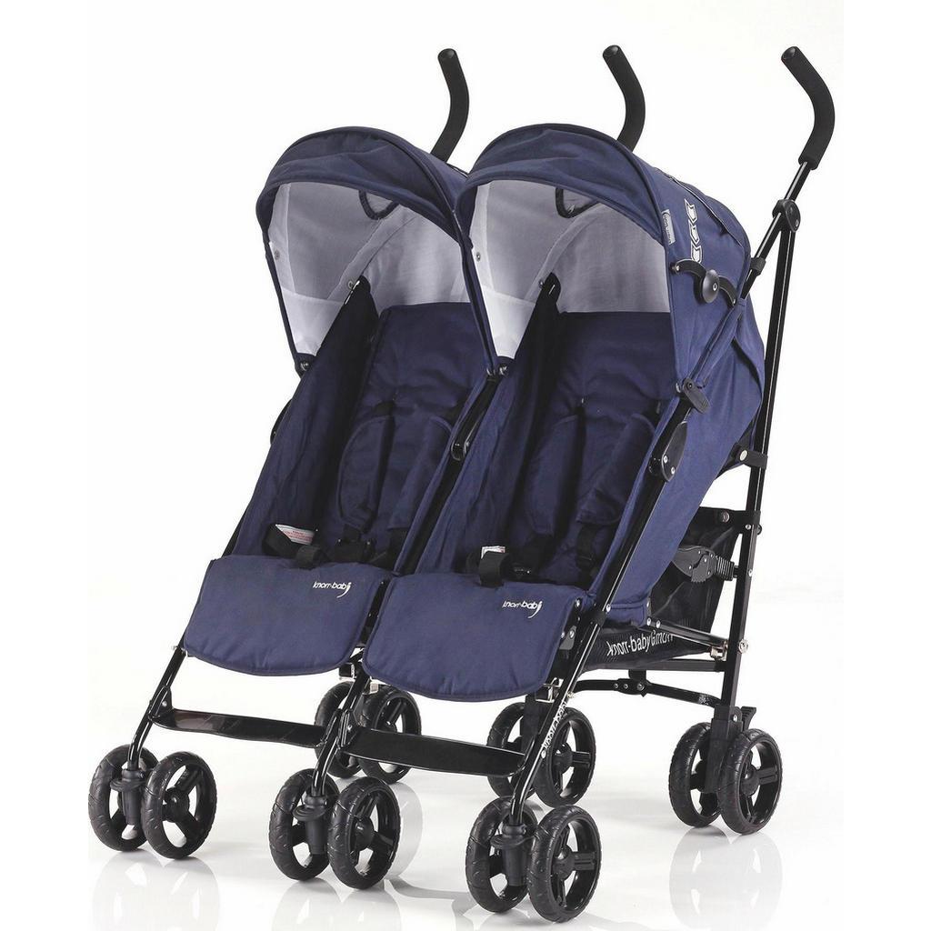 Zwillings-Buggy 'Side by Side' in Blau von Knorr-Baby