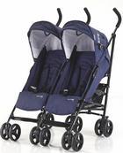 Side by Side  Knorr-Baby Zwillings-Buggy  Blau - Blau/Schwarz, Basics, Textil/Metall (65/72/107cm)