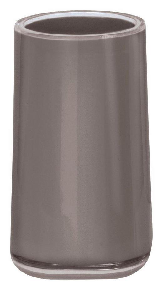 ZAHNPUTZBECHER Kunststoff - Platinfarben, Design, Kunststoff (6,5/11,3/6,5cm) - Kleine Wolke