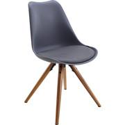 STUHL In Kunststoff, Textil Grau, Naturfarben   Naturfarben/Grau, Design,  Holz