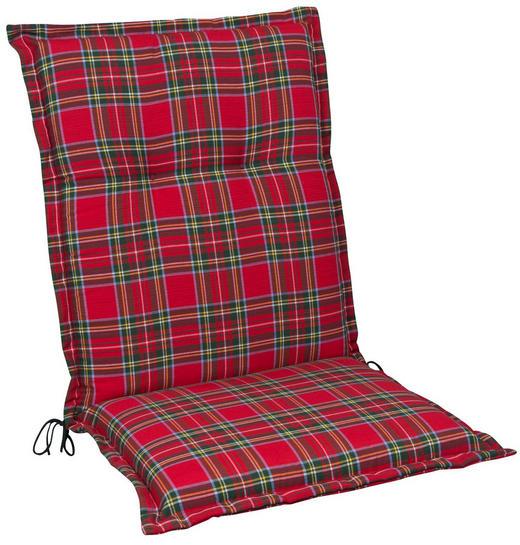 SESSELAUFLAGE Karo - Gelb/Rot, KONVENTIONELL, Textil (50/110/9cm)