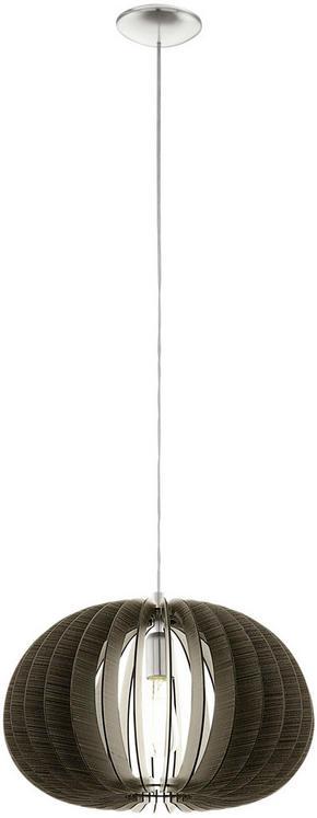 TAKLAMPA - mörkbrun, Natur, metall/trä (45/110cm) - Novel
