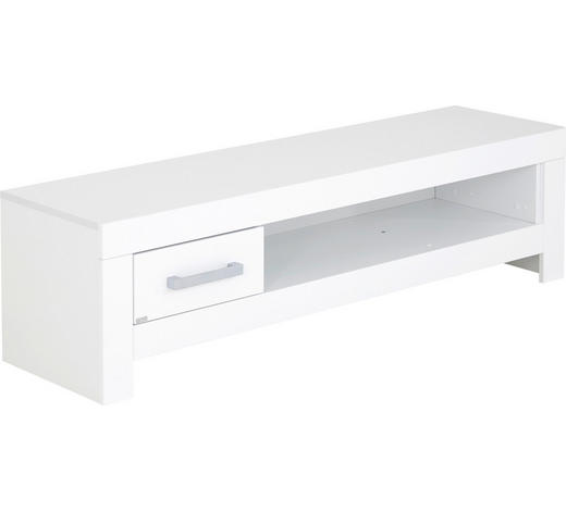 LOWBOARD 147,2/40,7/39,3 cm - Chromfarben/Weiß, KONVENTIONELL, Holzwerkstoff/Metall (147,2/40,7/39,3cm) - Paidi