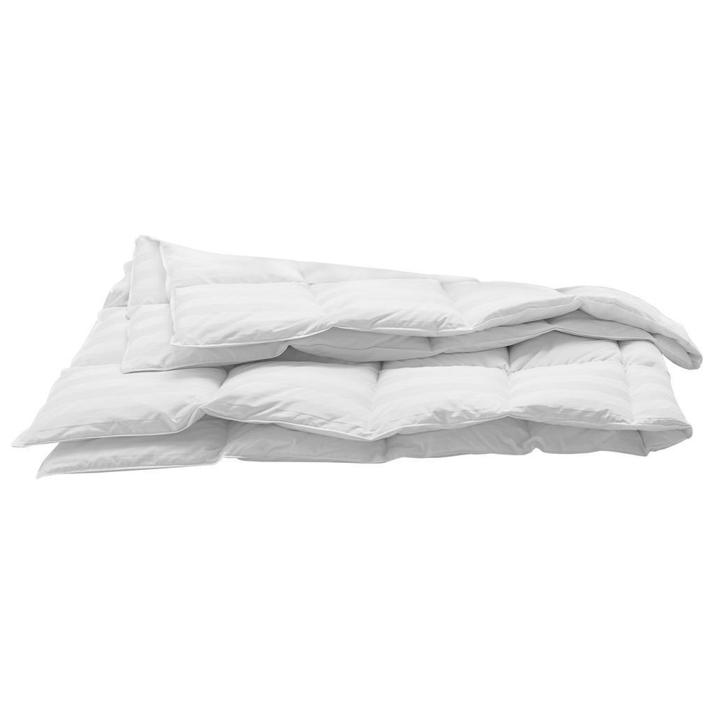 Image of Billerbeck Daunenduvet 160/210 cm , Corfu Medium , Textil , 160x210 cm , Jacquard, Satin , temperaturausgleichend, feuchtigkeitsregulierend, weich und anschmiegsam, reines Naturprodukt, passt sich perfekt der Körperform an, für alle Schlafpositionen geeig