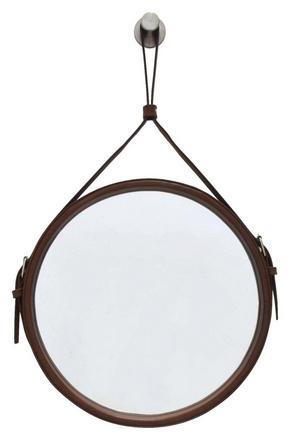 VÄGGSPEGEL - brun, Klassisk, metall/glas (30cm)