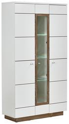 VITRINE Kieferfarben, Weiß - Alufarben/Weiß, KONVENTIONELL, Glas/Holz (110/197/42cm) - Hom`in