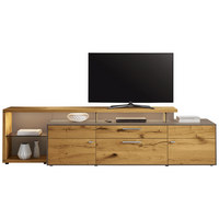 KOMODA LOWBOARD, barvy dubu, fango, medová - fango/medová, Design, kov/dřevo (294/76,2/55,7cm) - Moderano