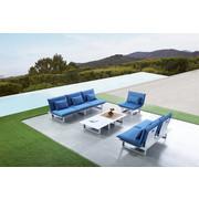 VRTNA GARNITURA - bijela/plava, Moderno, metal - Ambia Garden