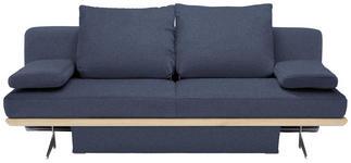 SCHLAFSOFA in Textil Blau - Chromfarben/Blau, Design, Textil/Metall (215/96/103cm) - Dieter Knoll