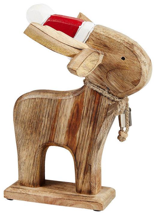DEKORENTIER  Dunkelbraun, Rot, Weiß - Dunkelbraun/Rot, Holz (30/27/21cm)