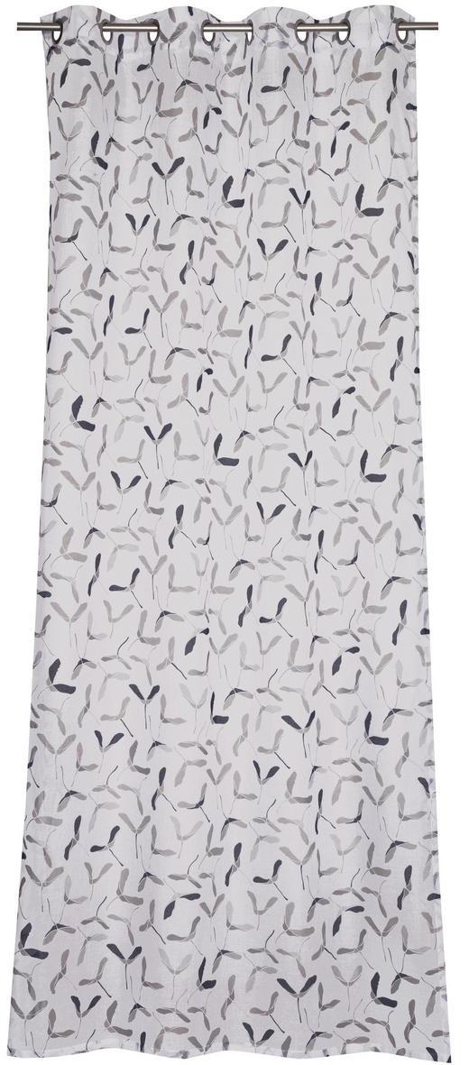 ÖSENSCHAL  transparent   140/250 cm - Anthrazit/Weiß, Textil (140/250cm) - Schöner Wohnen
