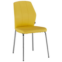 STOLICA - boje kroma/žuta, Design, metal/tekstil (47/90/58cm) - Carryhome