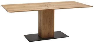 ESSTISCH in Holz, Metall 200/95/77 cm   - Eichefarben/Schwarz, Natur, Holz/Metall (200/95/77cm) - Valnatura
