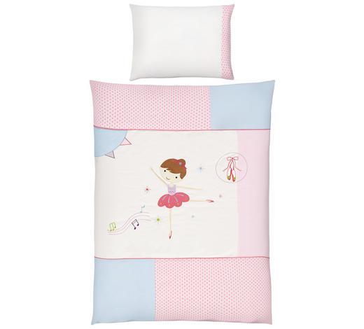 KOJENECKÉ POVLEČENÍ, 100/135 cm, růžová - růžová, Basics, textil (100/135cm) - Patinio