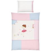 POSTELJNINA ZA DOJENČKE - roza, Basics, tekstil (100/135cm) - PATINIO