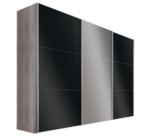 SCHWEBETÜRENSCHRANK in Silbereichenfarben - Alufarben/Silbereichenfarben, Design, Glas/Holzwerkstoff (300/216/68cm) - Hom`in