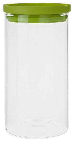 FÖRVARINGSBURK - klar/grön, Basics, glas/plast (9,5/18,1cm) - Homeware