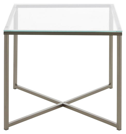 BEISTELLTISCH in Klar, Chromfarben - Chromfarben/Klar, Design, Glas/Metall (50/45/50cm) - Carryhome