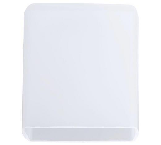 SCHIENENSYSTEM-LEUCHTENSCHIRM   - Weiß, Design, Glas (7,5/8cm)