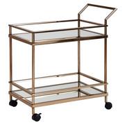 SERVIERWAGEN rechteckig Goldfarben  - Goldfarben, Design, Glas/Kunststoff (65,5/84/45cm) - Carryhome